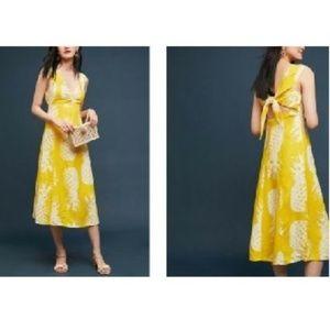 d49d29592da ... Anthropologie Pineapple Midi Dress by Maeve  148 ...